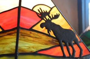 Adirondack Moose lamp